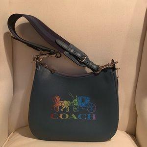 Coach brand new rainbow glitter jes hobo bag